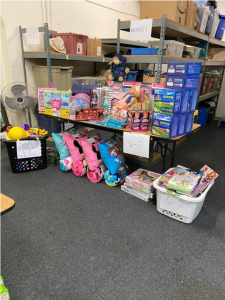 A selection of toys distributed by St. Francis House through Windermere Eastlake's donation